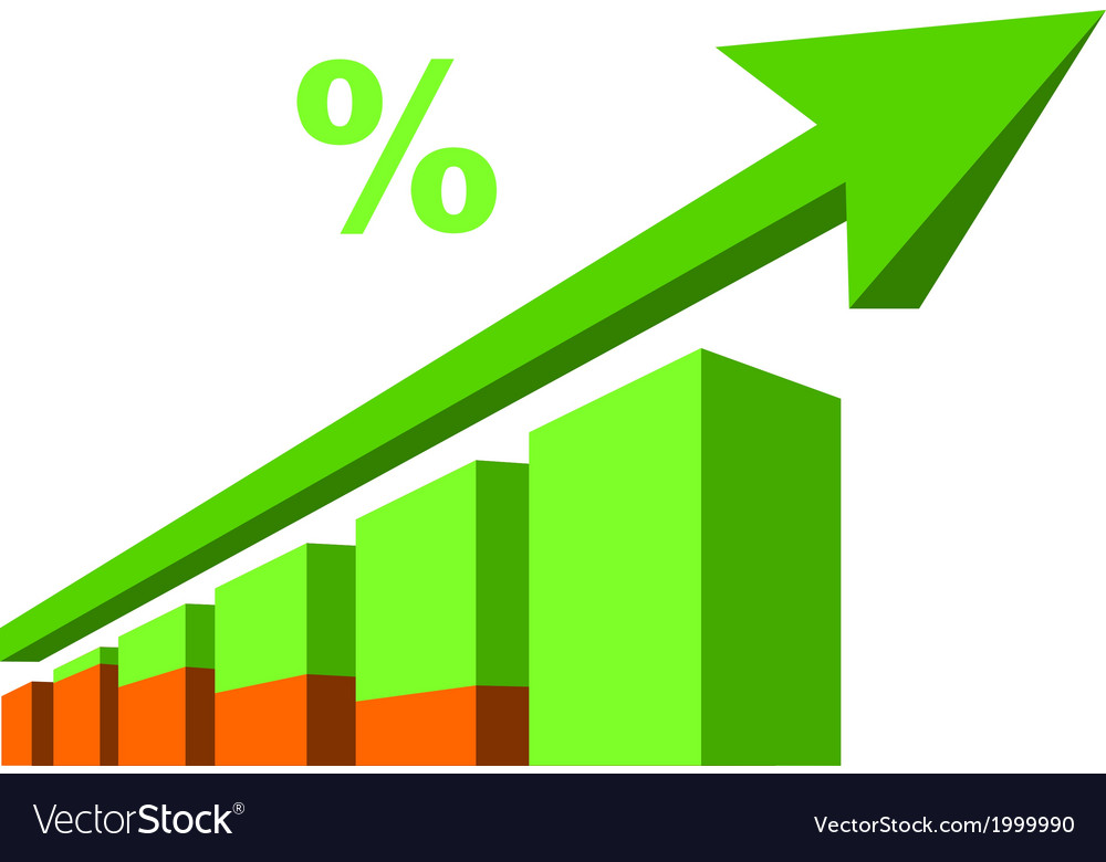 Business graph with arrow vector   Price: 1 Credit (USD $1)