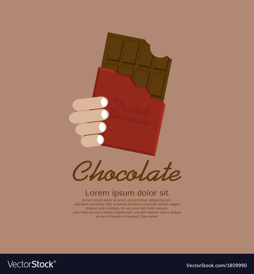 Chocolate bar in red wrap vector | Price: 1 Credit (USD $1)