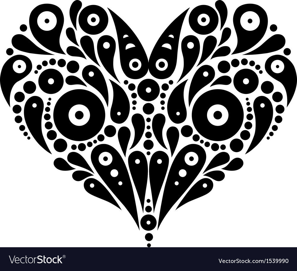 Decorative heart tattoo vector | Price: 1 Credit (USD $1)