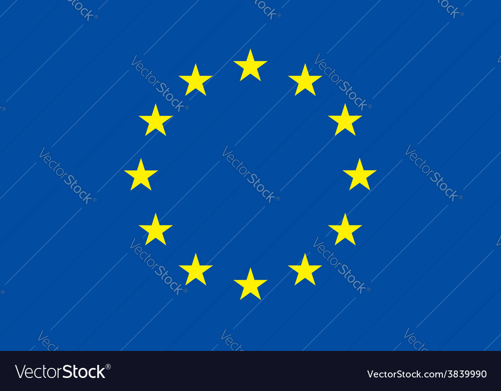 European union flag original proportion and colors vector | Price: 1 Credit (USD $1)