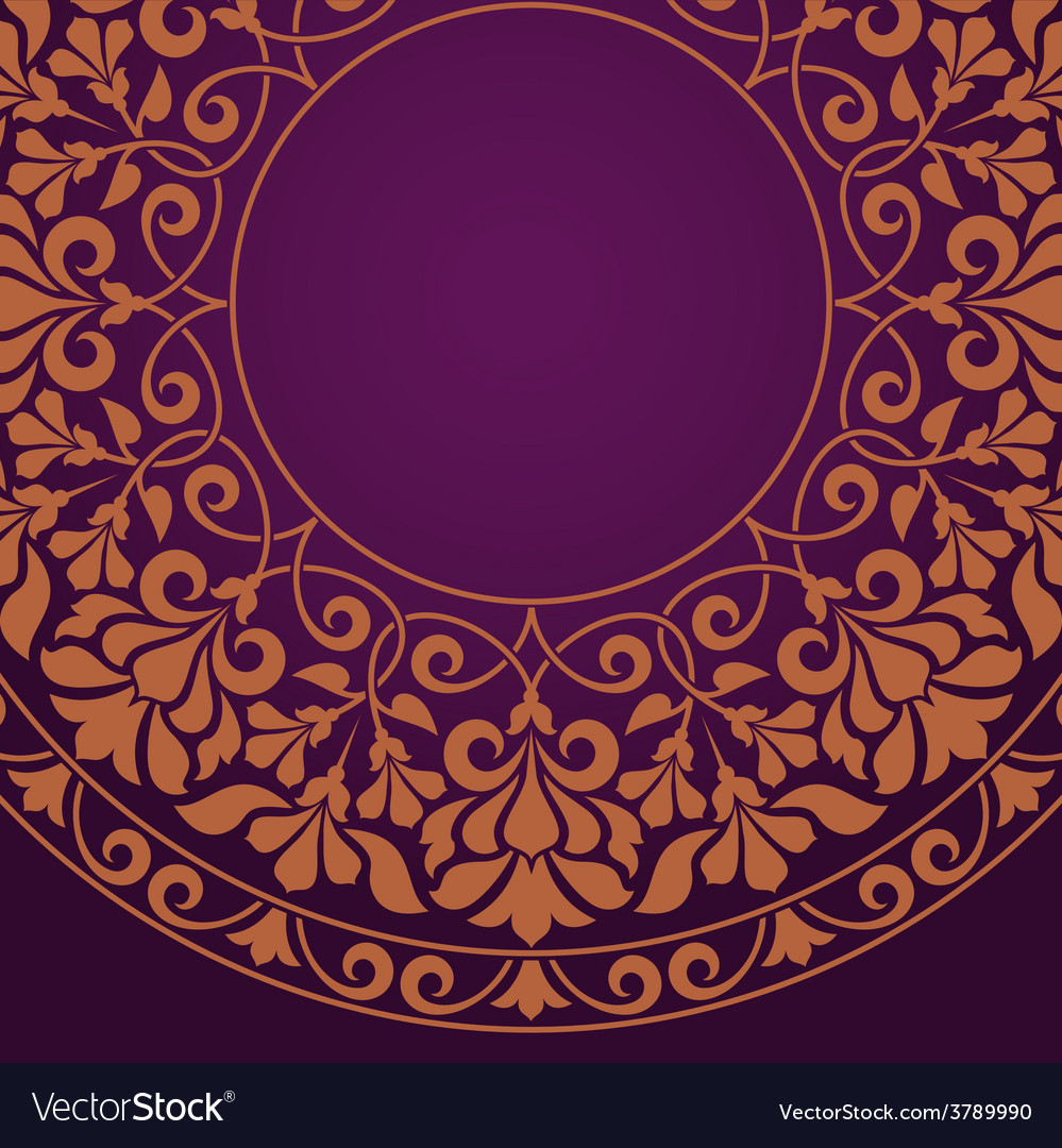 Floral indian pattern vector | Price: 1 Credit (USD $1)
