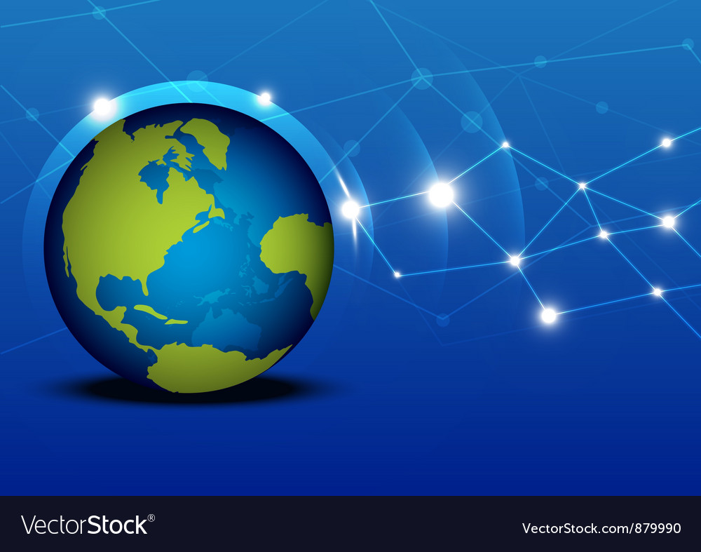 Globalization network vector | Price: 1 Credit (USD $1)