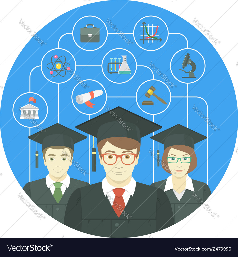 Graduation concept vector | Price: 1 Credit (USD $1)