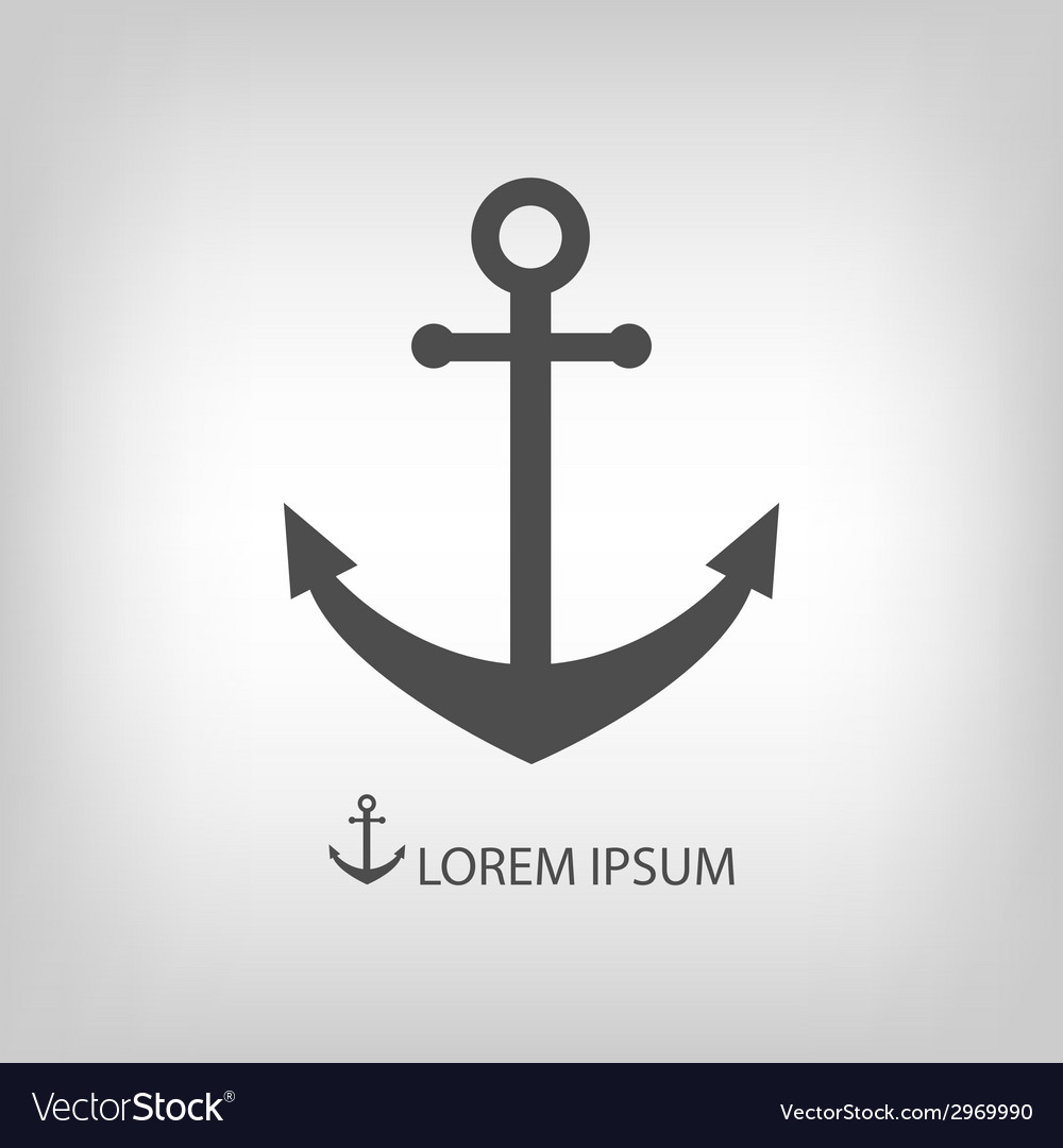 Grey anchor vector | Price: 1 Credit (USD $1)