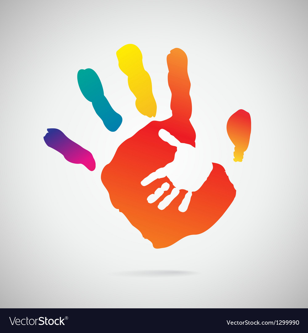 Hand print icon vector | Price: 1 Credit (USD $1)
