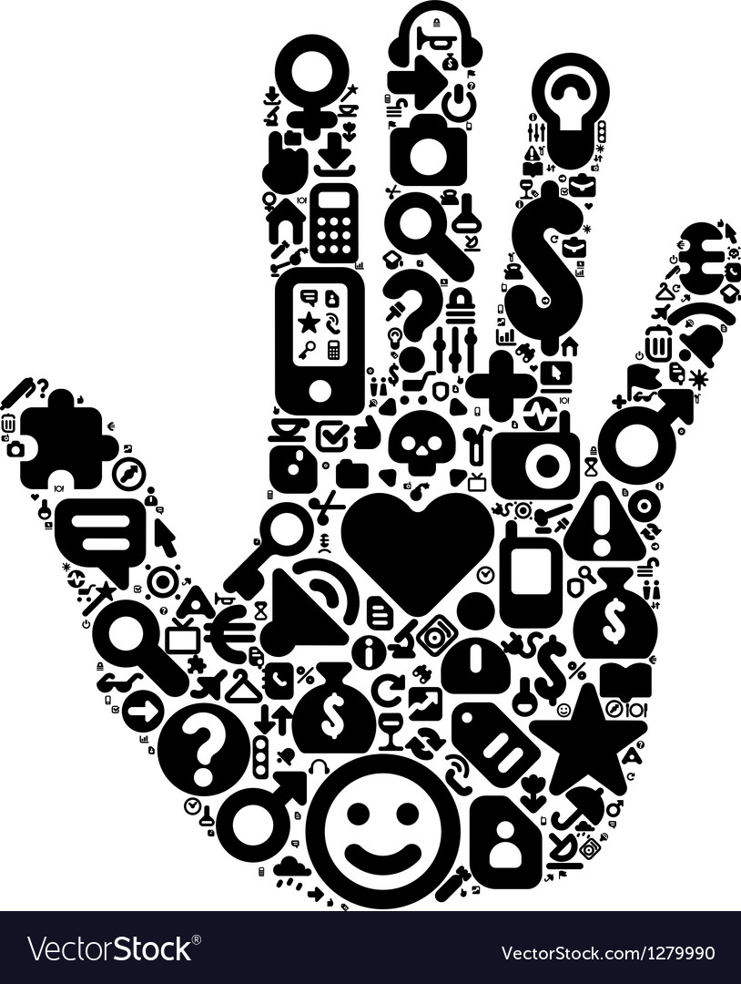 Human hand concept vector | Price: 1 Credit (USD $1)