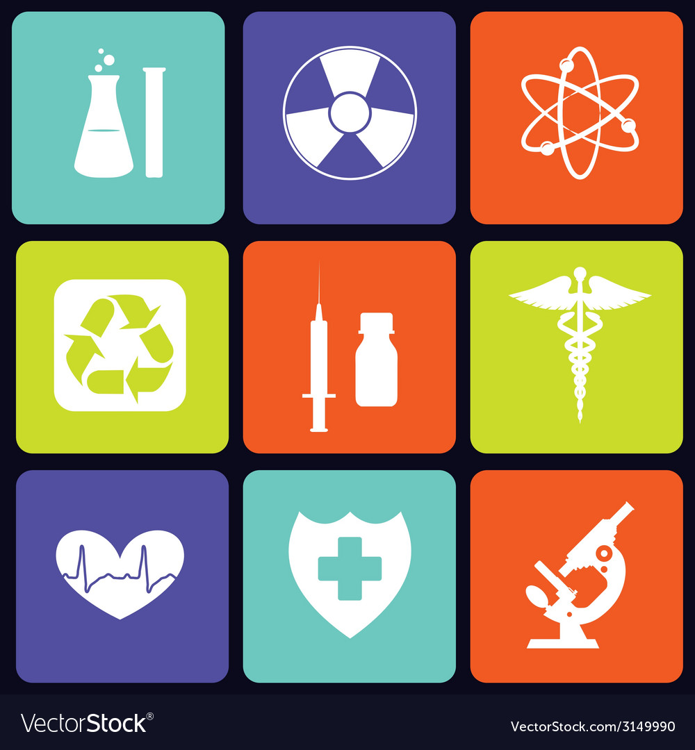 Medicine icons square vector | Price: 1 Credit (USD $1)