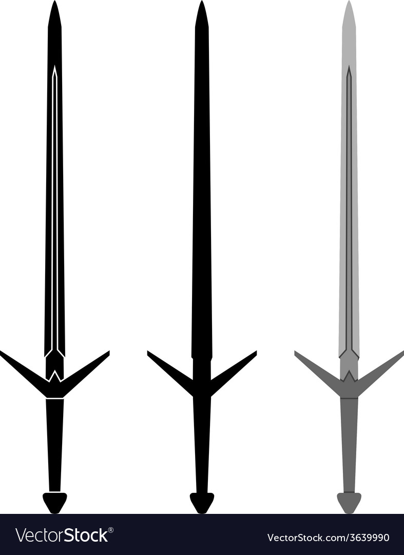 Medieval sword vector | Price: 1 Credit (USD $1)