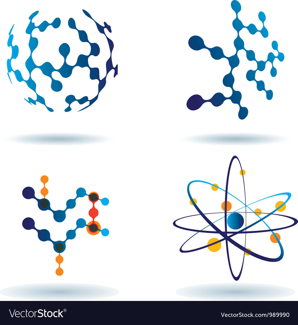 Organic chemistry logo set vector | Price: 1 Credit (USD $1)