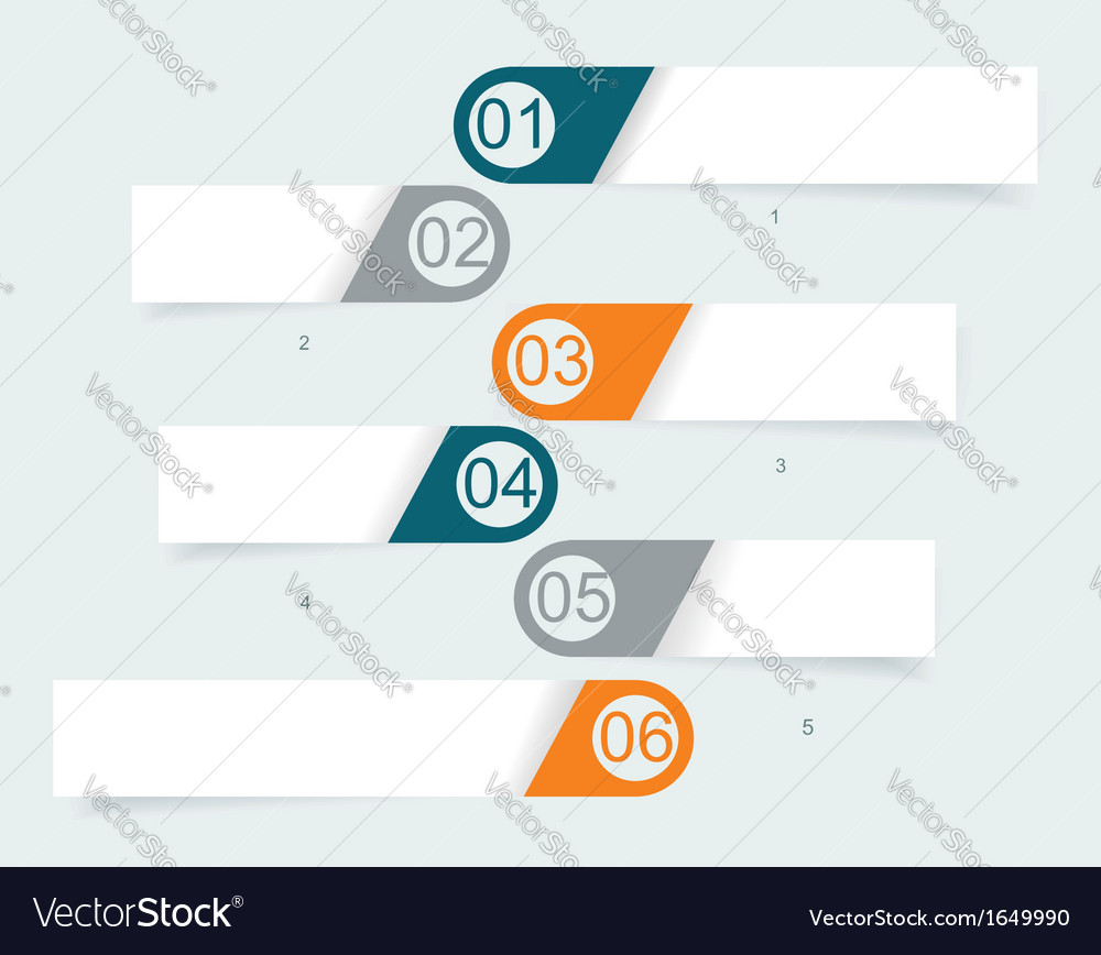 Steps lines progress banners with colorful tags vector   Price: 1 Credit (USD $1)