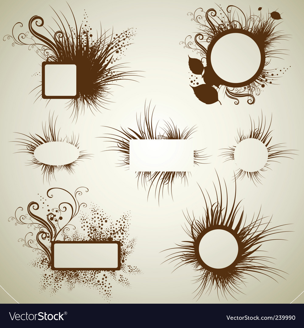 Vintage grunge frames vector | Price: 1 Credit (USD $1)