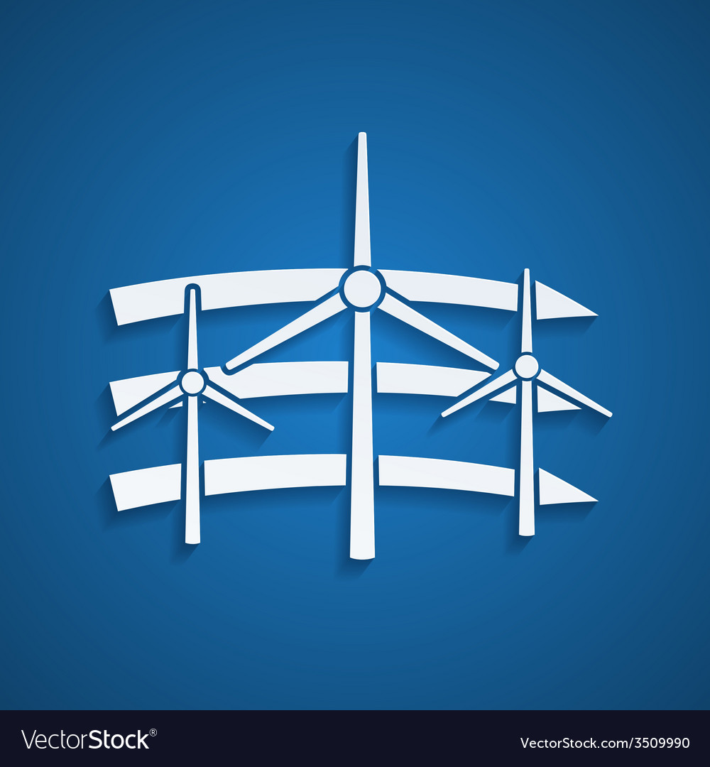 Wind energy vector | Price: 1 Credit (USD $1)