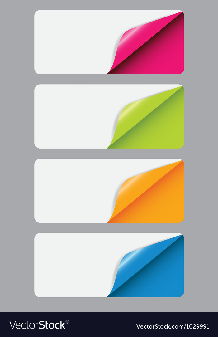 Banners with different corner and place for your vector | Price: 1 Credit (USD $1)