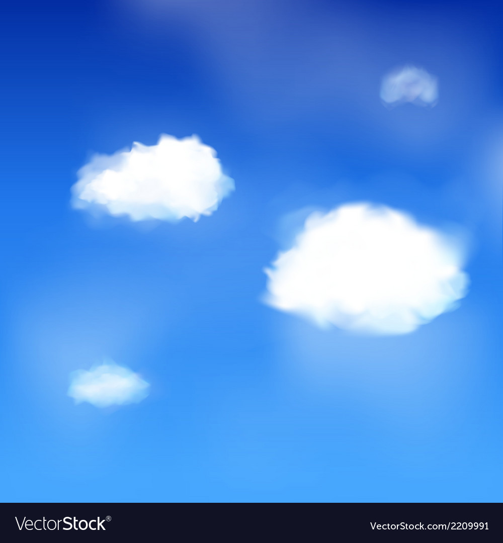 Blue sky and clouds vector | Price: 1 Credit (USD $1)