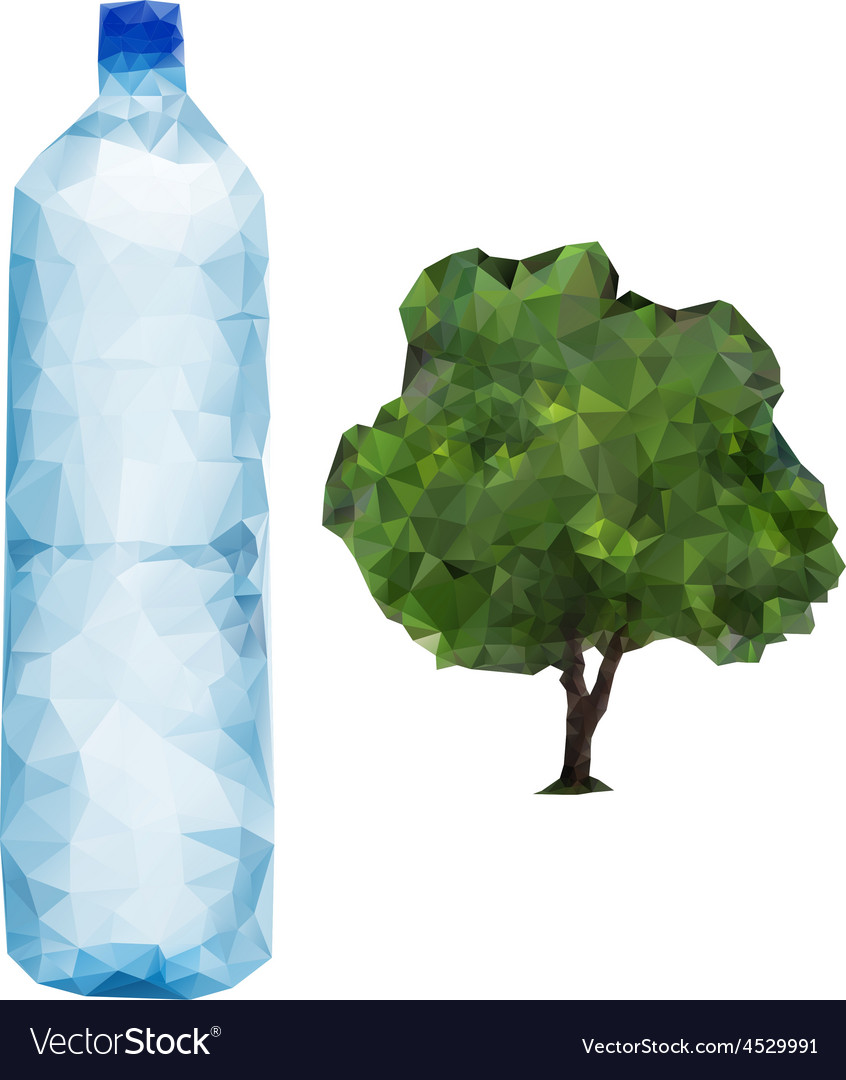 Bottle and tree vector | Price: 1 Credit (USD $1)