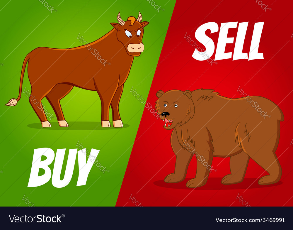 Bull and bear vector   Price: 1 Credit (USD $1)