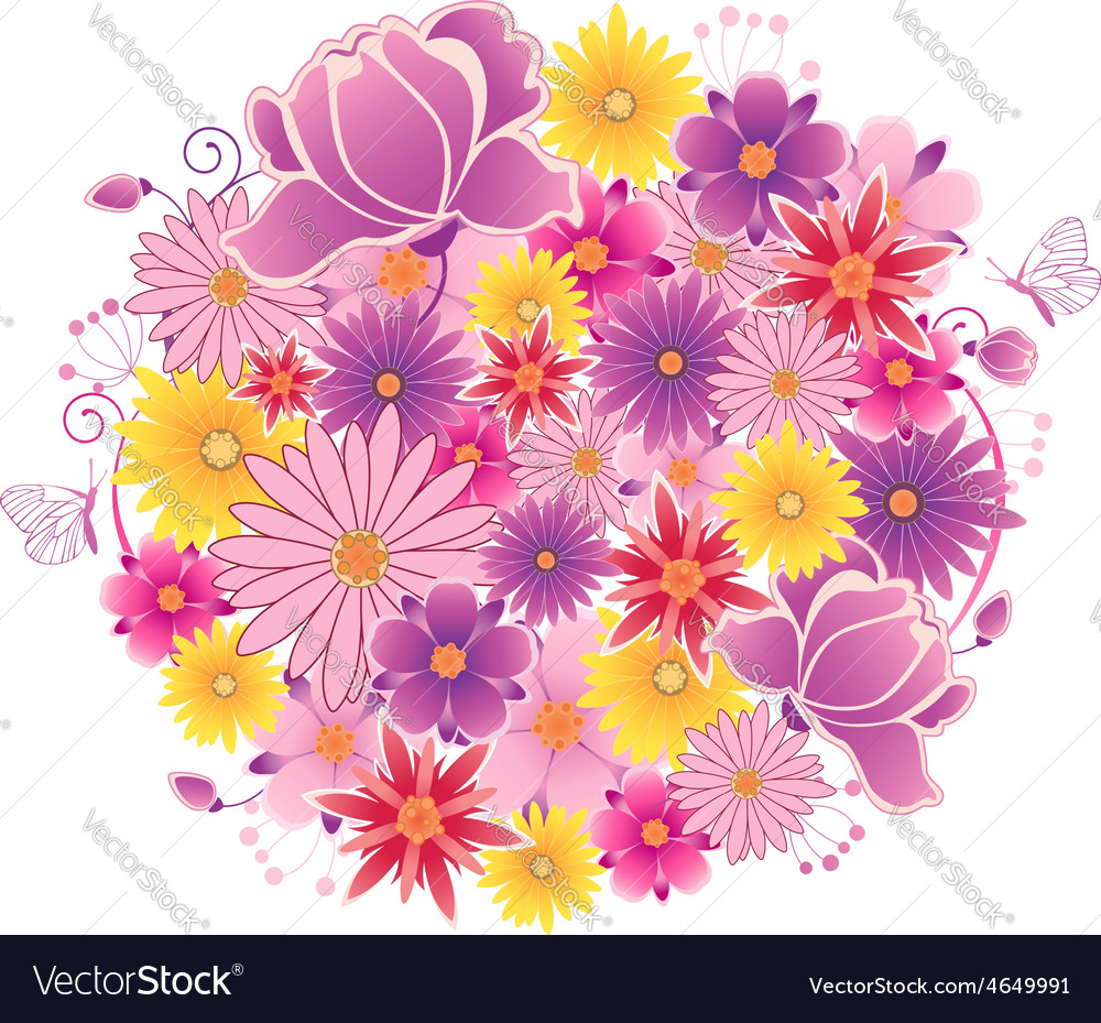 Decorative flowering planet vector | Price: 1 Credit (USD $1)