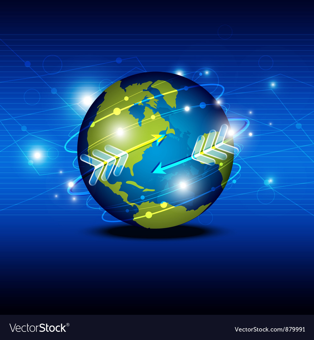 Globalization technology network vector | Price: 1 Credit (USD $1)