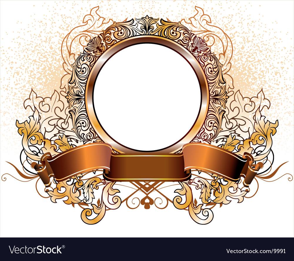 Gold heraldic vector | Price: 1 Credit (USD $1)