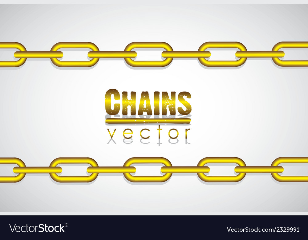 Gold link chain isolated on white background vector | Price: 1 Credit (USD $1)
