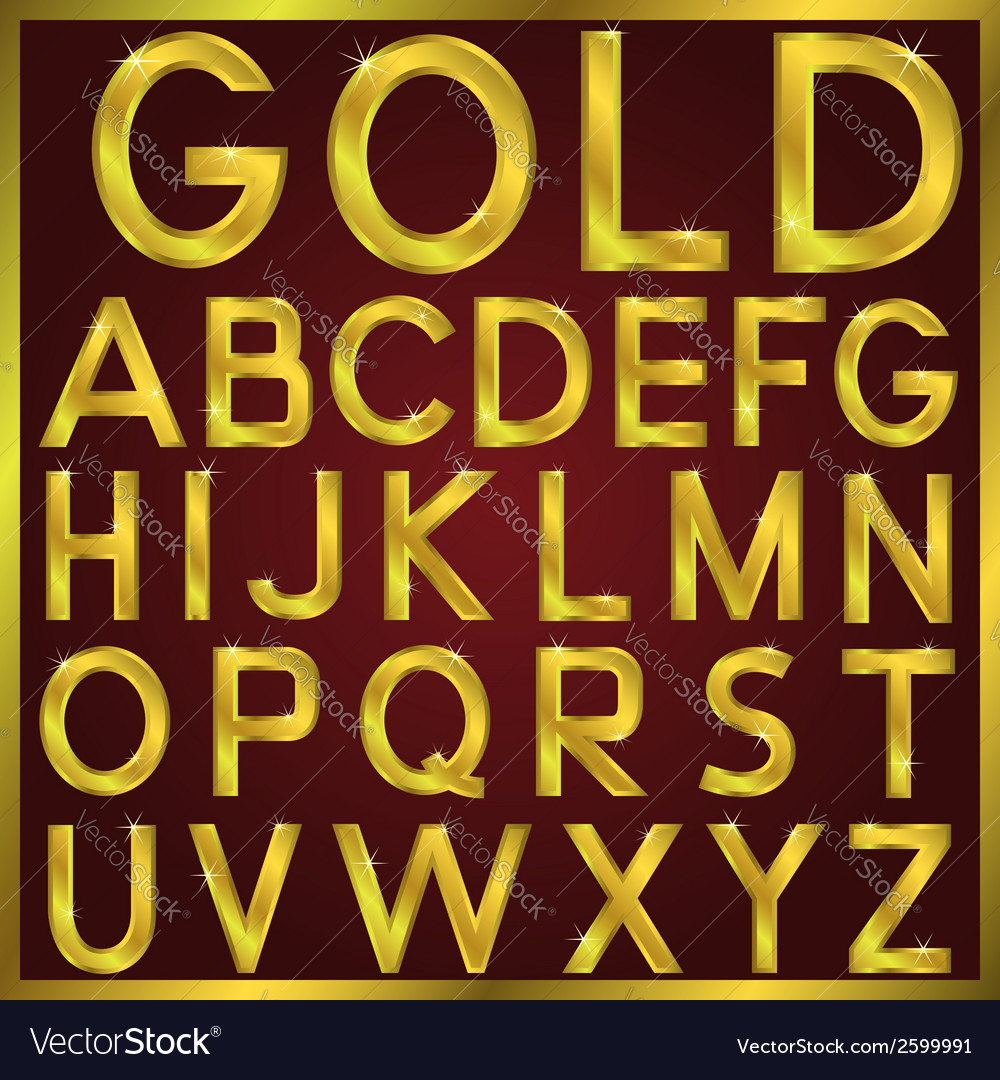 Golden alphabet vector | Price: 1 Credit (USD $1)