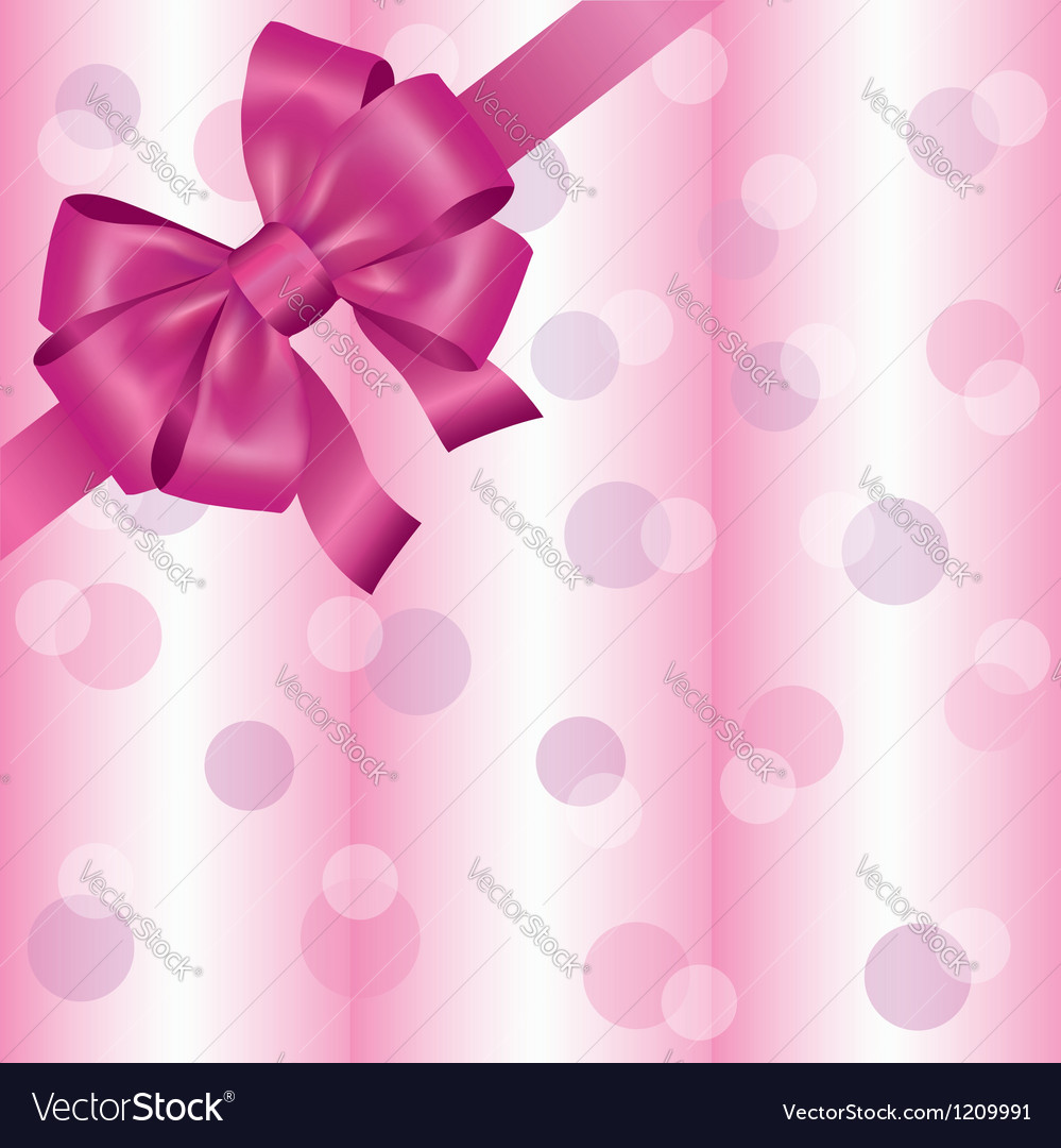 Light pink background with ribbon and bow vector | Price: 1 Credit (USD $1)