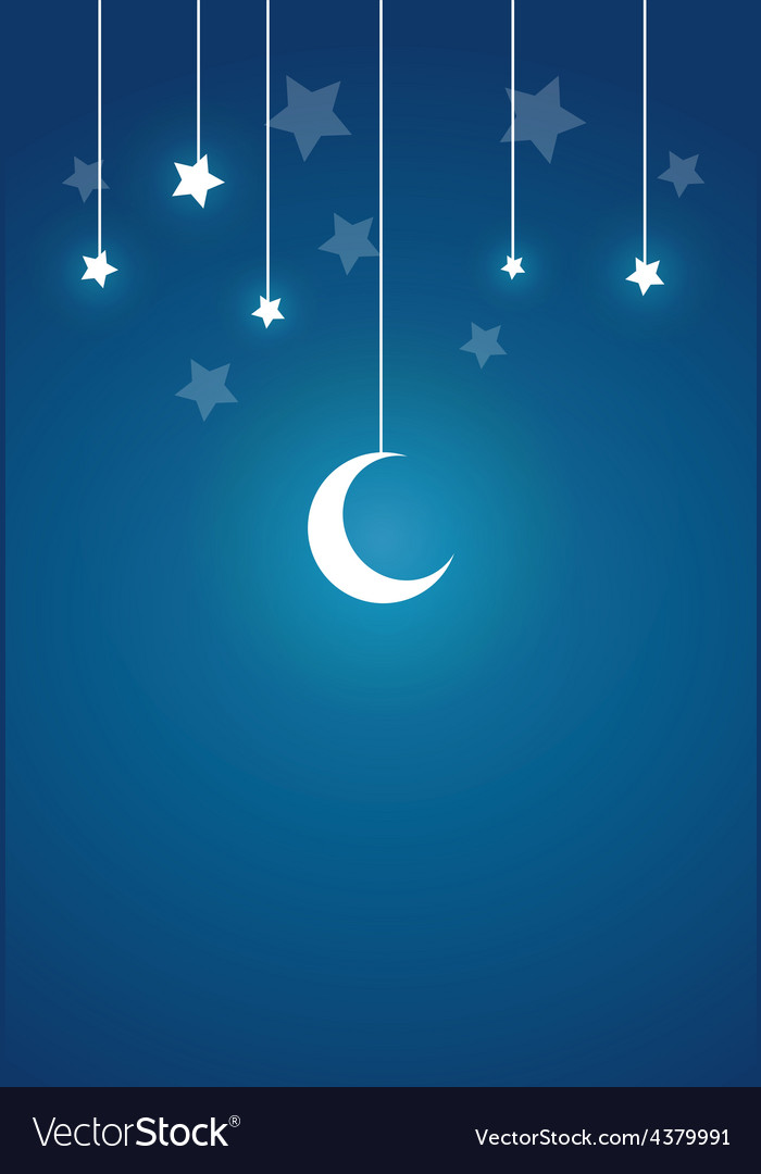 Present card in night theme vector | Price: 1 Credit (USD $1)