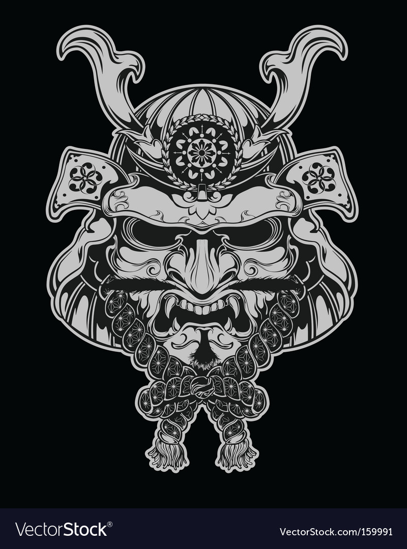 Samurai mask vector | Price: 5 Credit (USD $5)