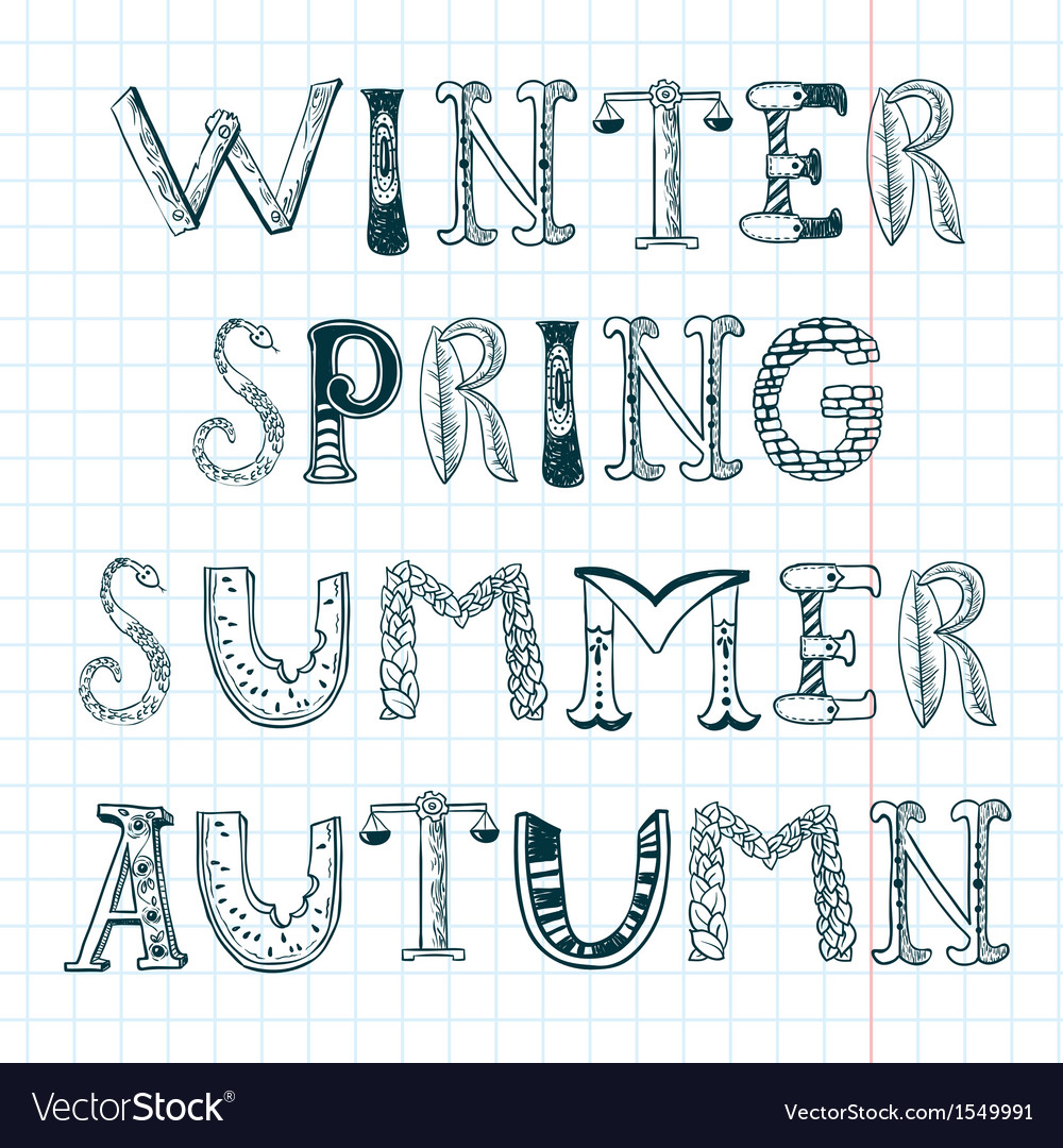 Season words vector | Price: 1 Credit (USD $1)