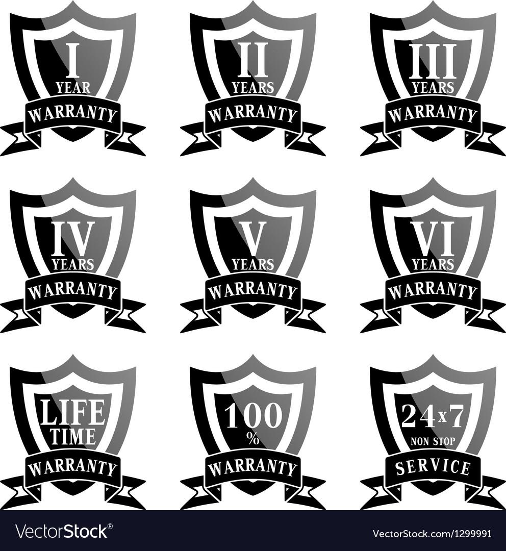 Set of 100 guarantee labels vector   Price: 1 Credit (USD $1)