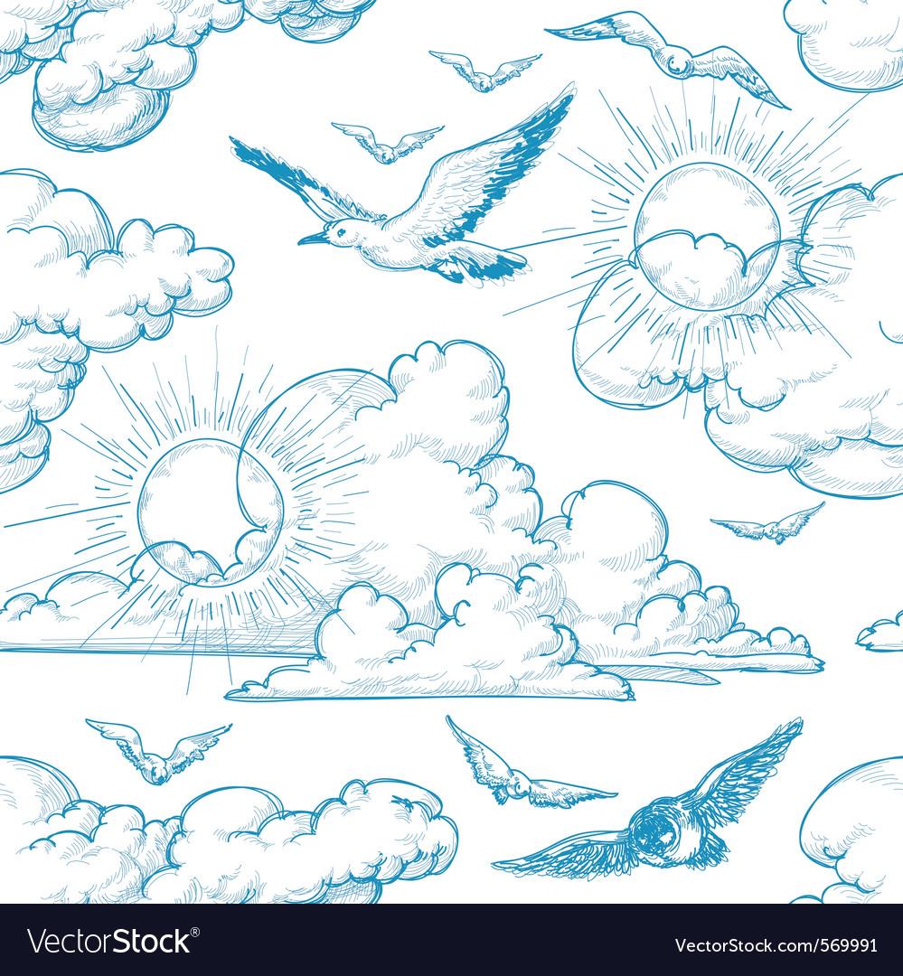 Sky seamless pattern vector   Price: 1 Credit (USD $1)