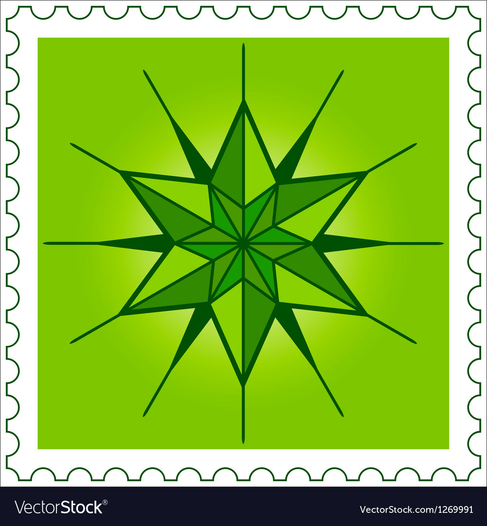 Star stamp vector | Price: 1 Credit (USD $1)