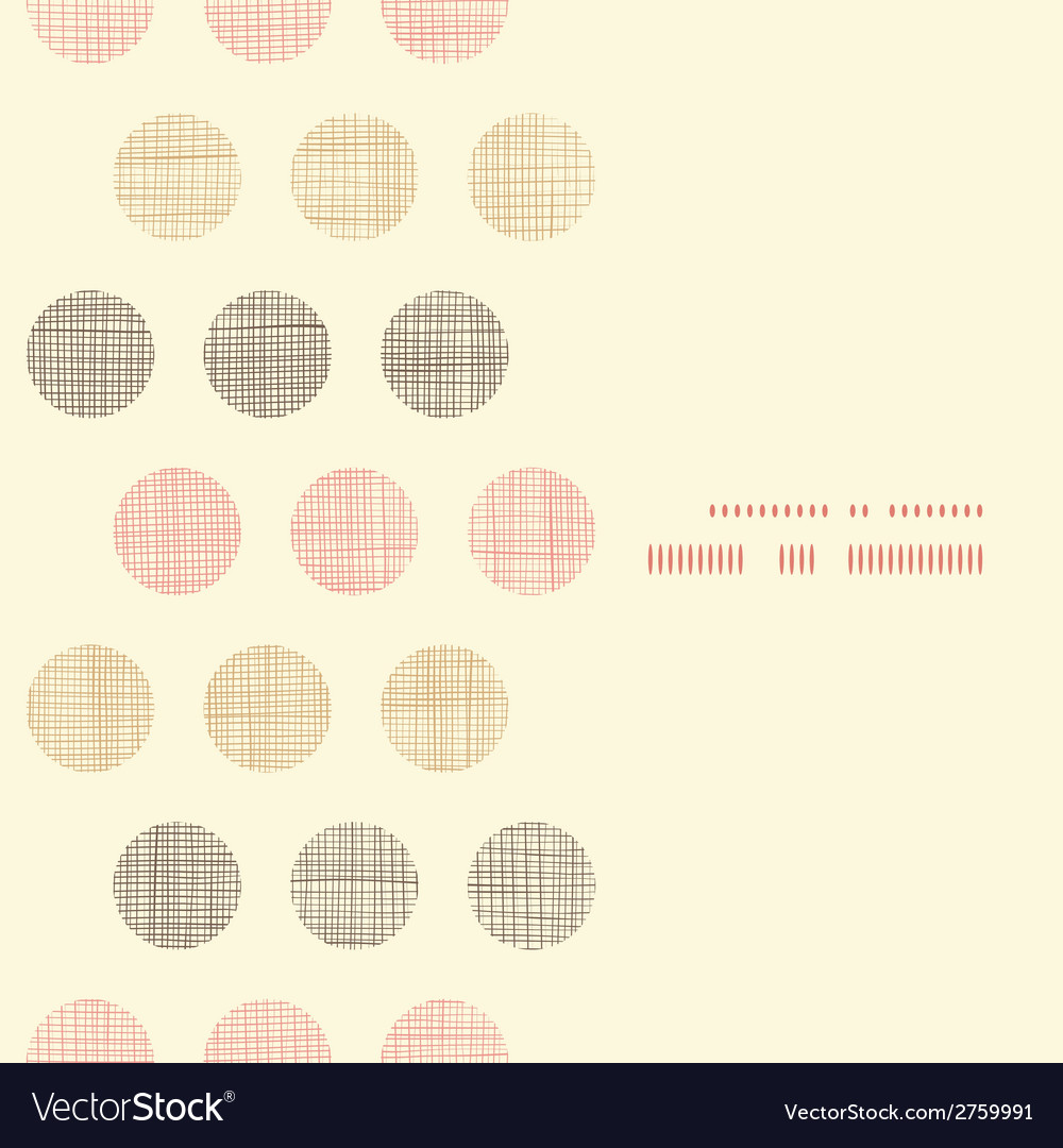 Vintage textile polka dots vertical frame seamless vector | Price: 1 Credit (USD $1)