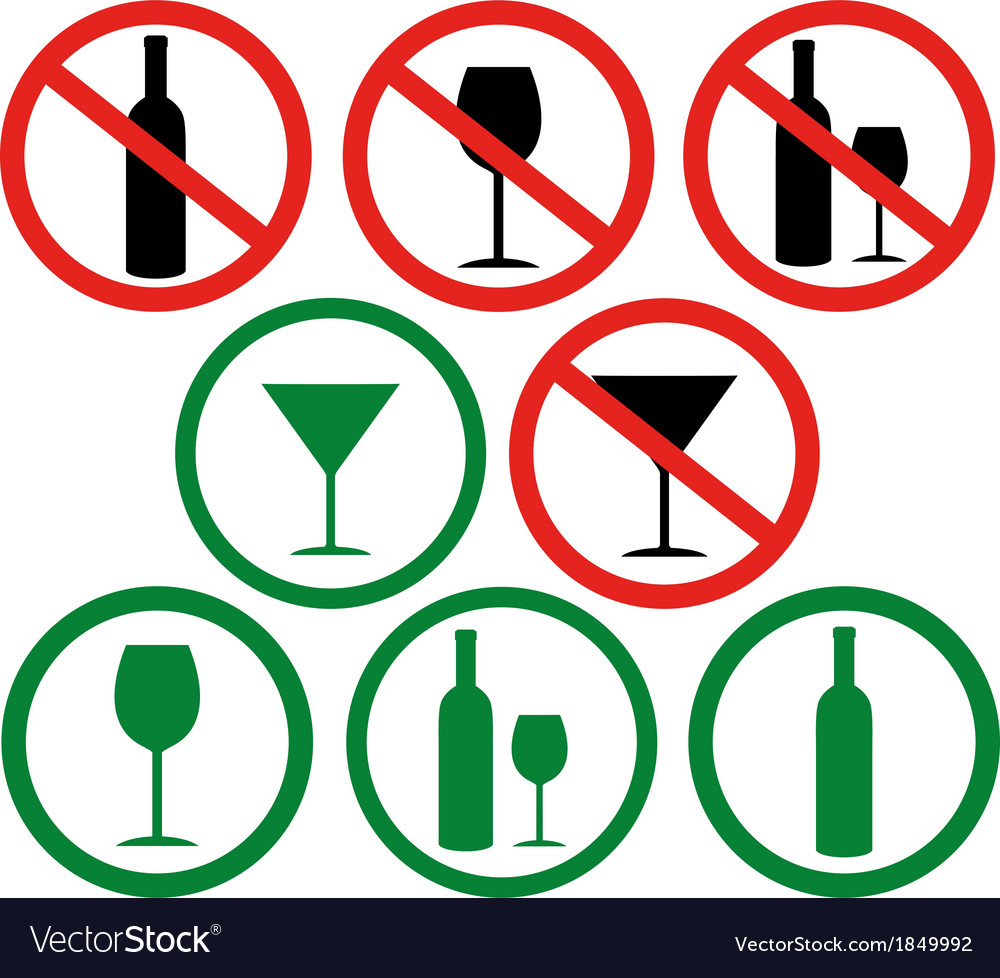Dont drink vector | Price: 1 Credit (USD $1)