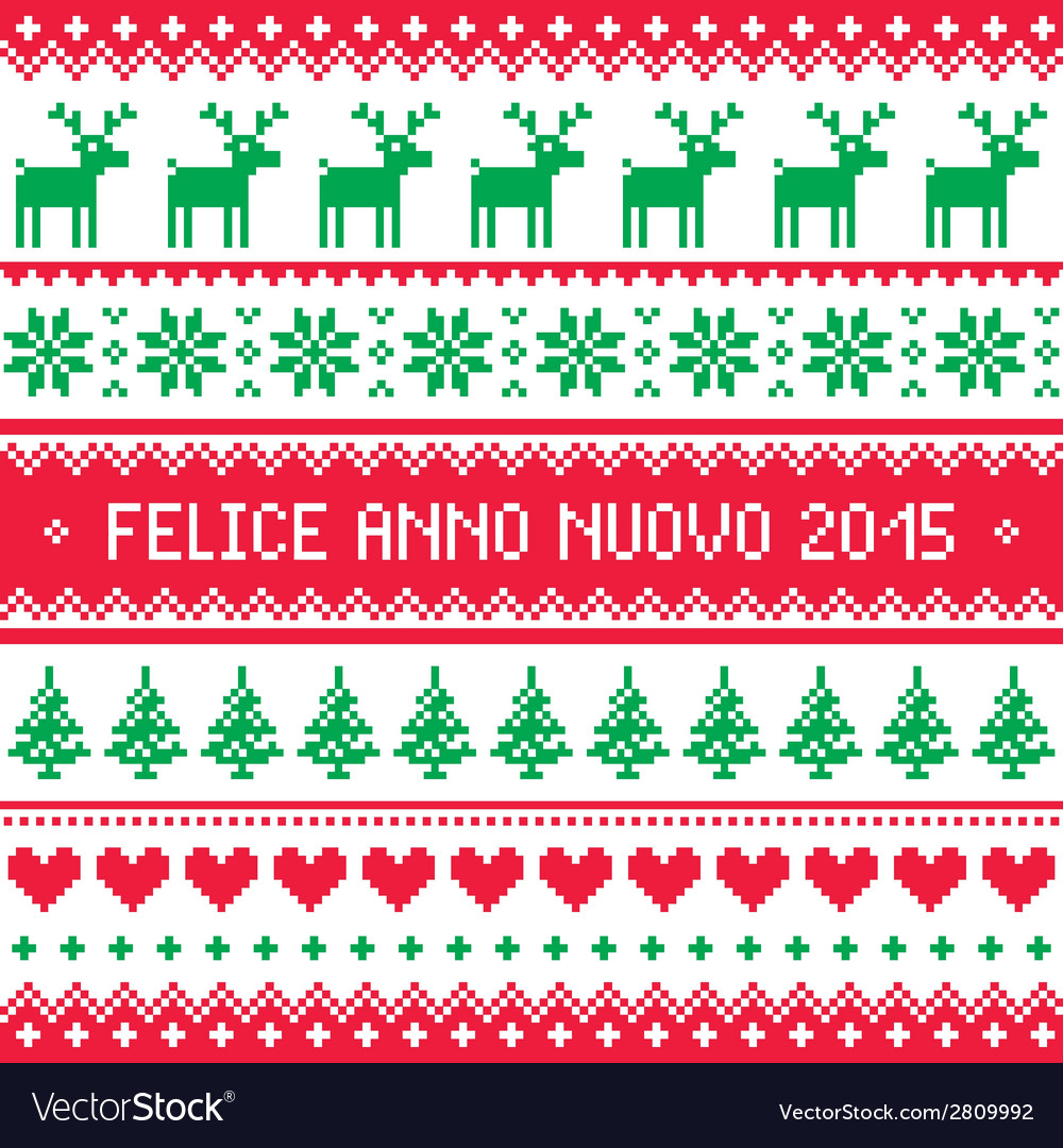 Felice anno nuovo 2015 - italian happy new year vector | Price: 1 Credit (USD $1)