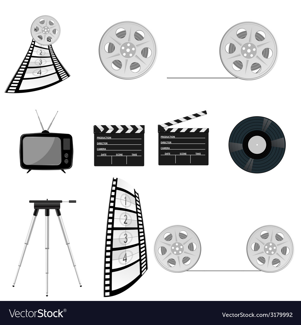 Film tape old part four vector | Price: 1 Credit (USD $1)