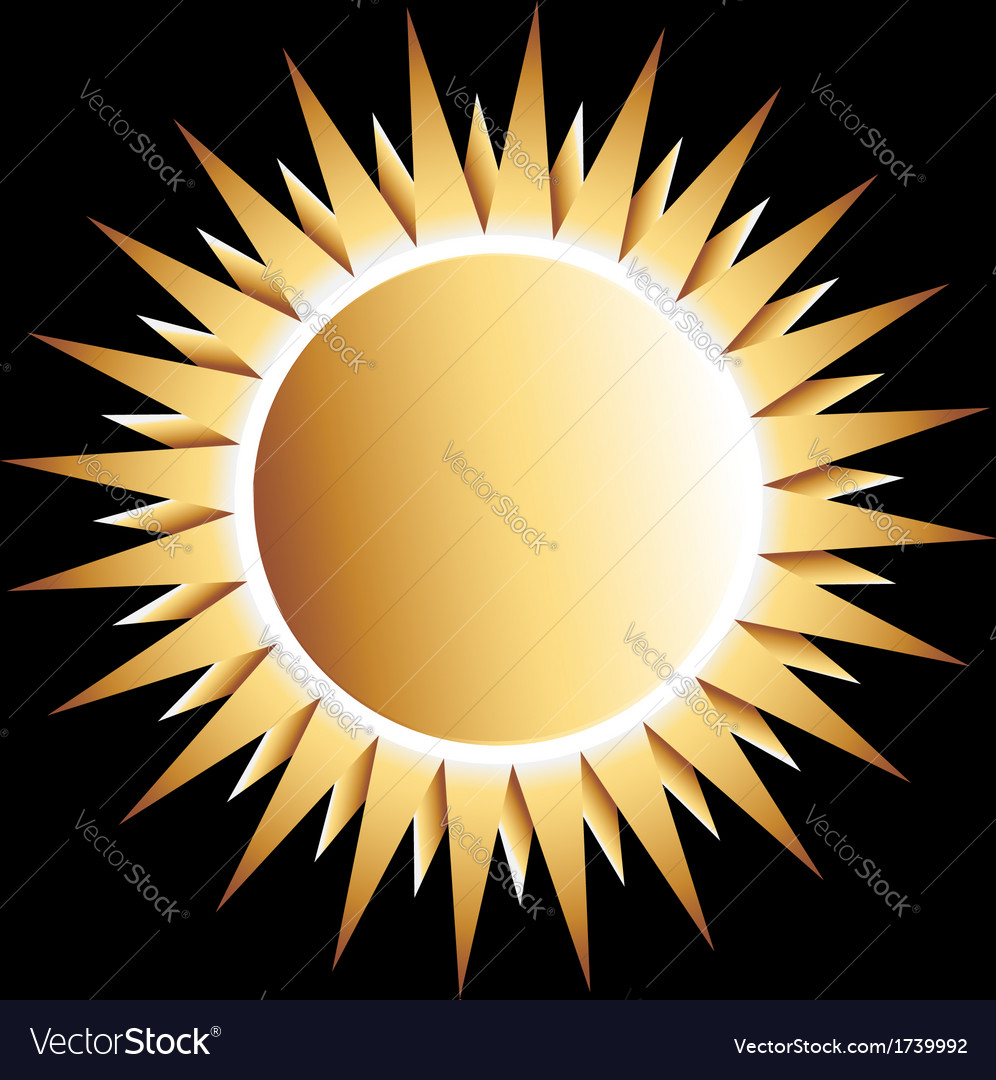 Gold sun logo vector | Price: 1 Credit (USD $1)