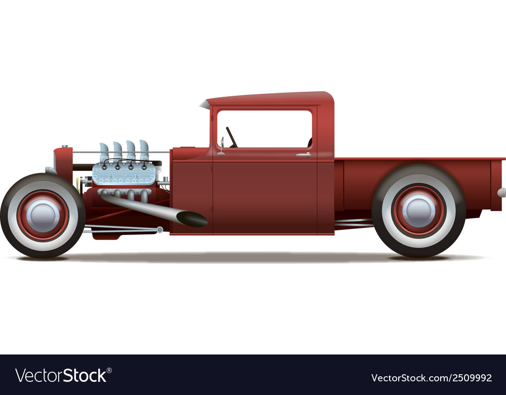 Hot rod truck vector | Price: 1 Credit (USD $1)