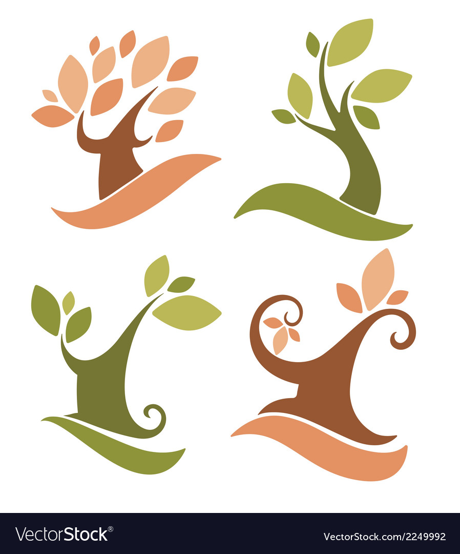 Lovely trees vector | Price: 1 Credit (USD $1)