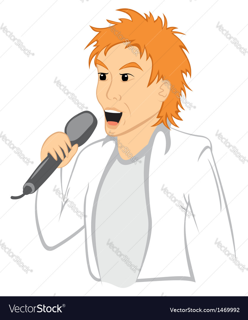 Man with mic vector | Price: 1 Credit (USD $1)