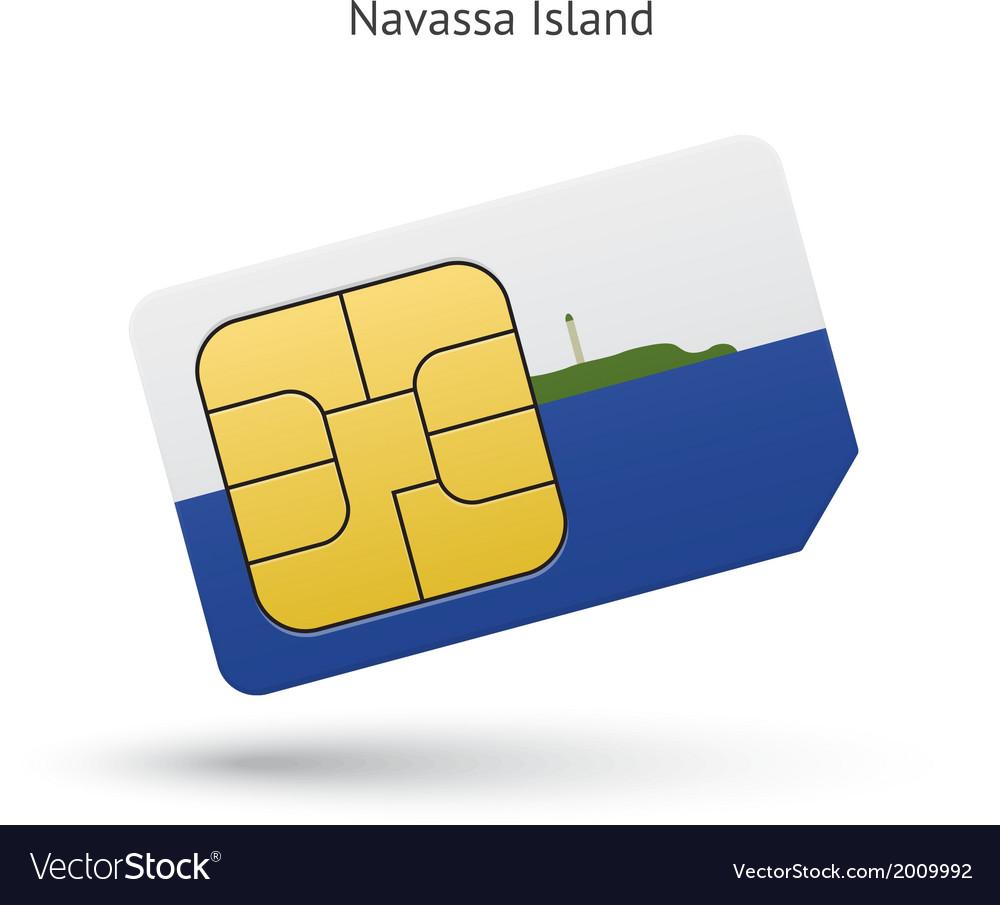 Navassa island mobile phone sim card with flag vector   Price: 1 Credit (USD $1)