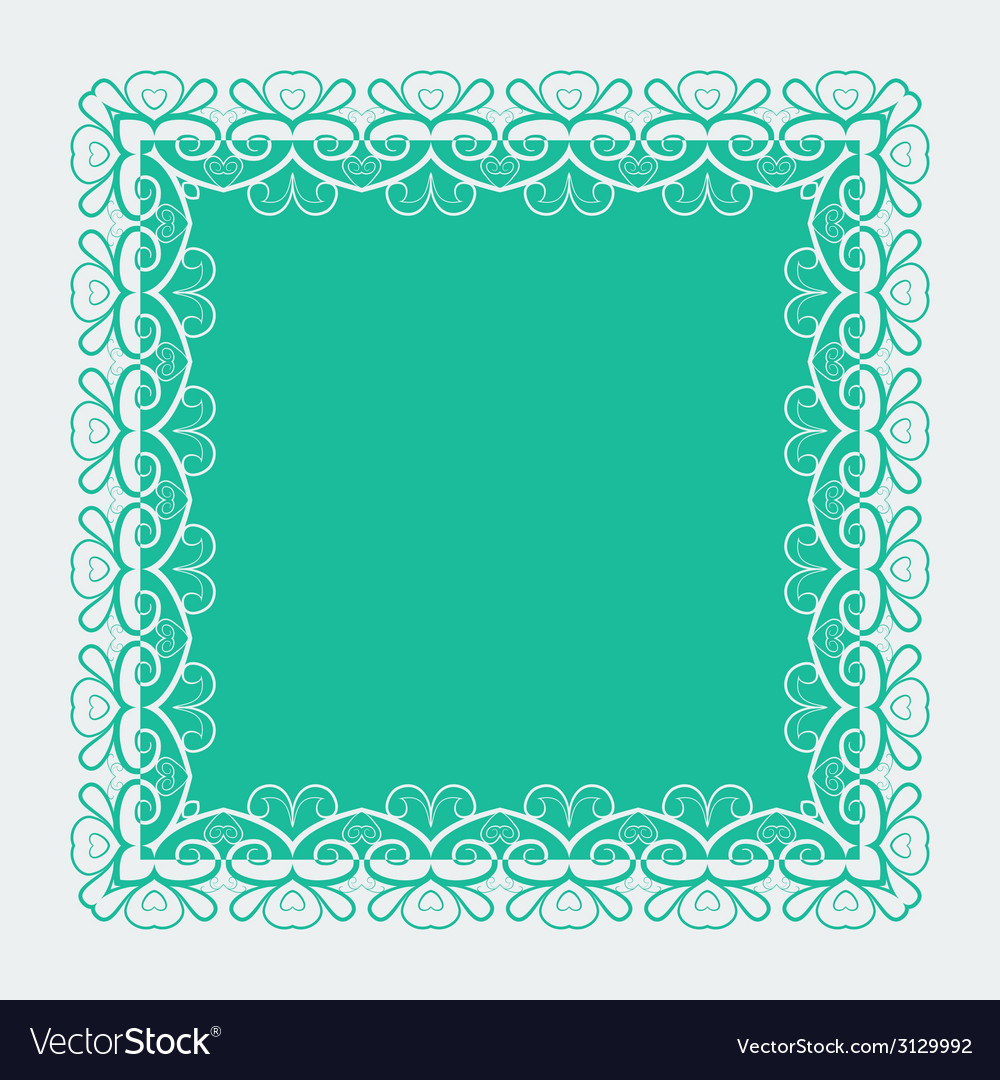 Ornamental lace square border vector | Price: 1 Credit (USD $1)
