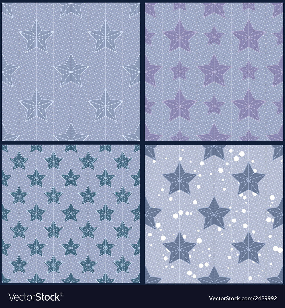 Set of blue star patterns vector | Price: 1 Credit (USD $1)