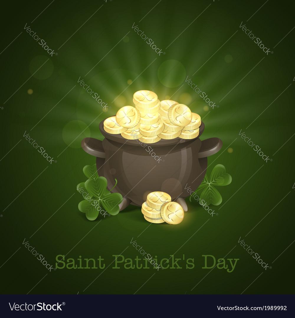 St patricks day pot of gold vector | Price: 1 Credit (USD $1)