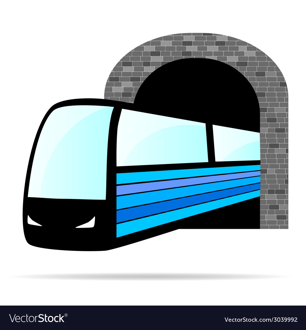Train from the tunnel vector | Price: 1 Credit (USD $1)