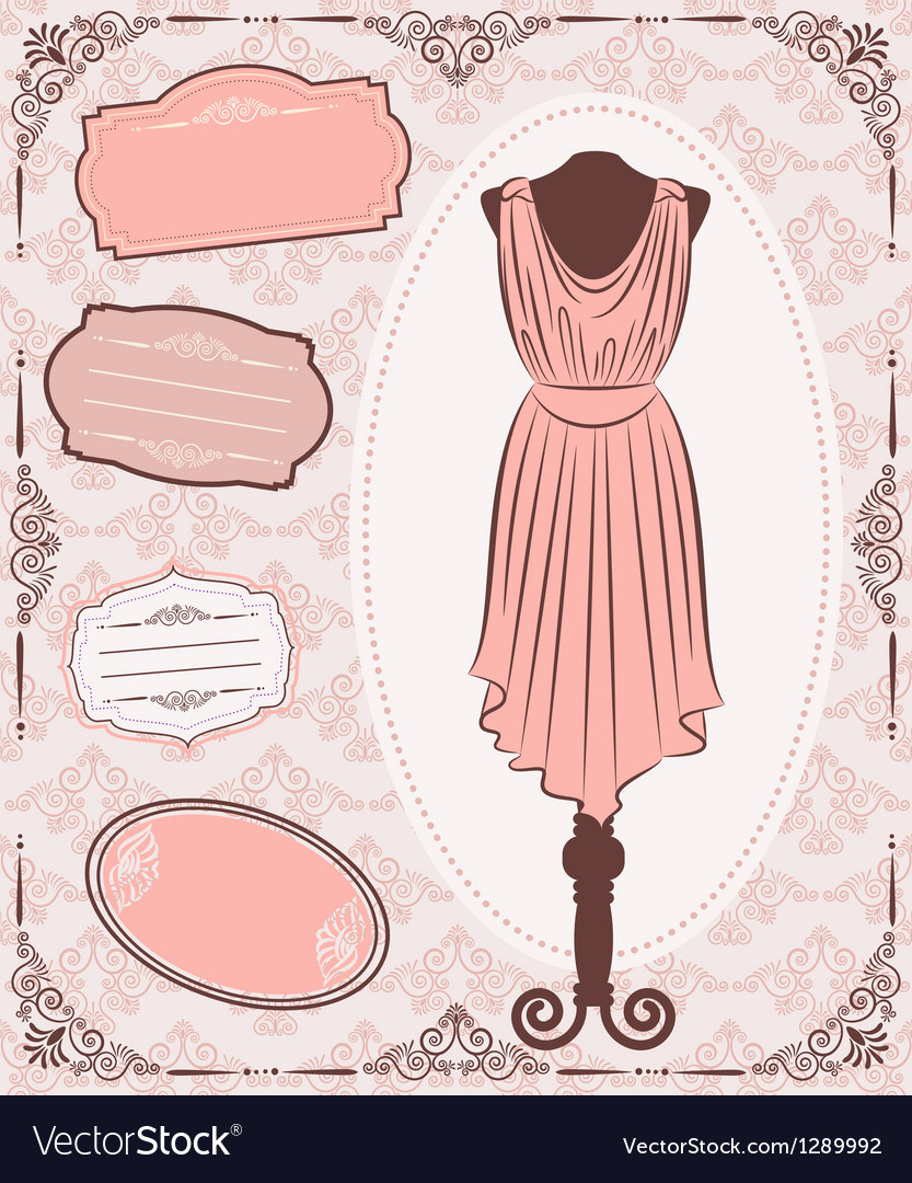 Vintage dress vector | Price: 1 Credit (USD $1)