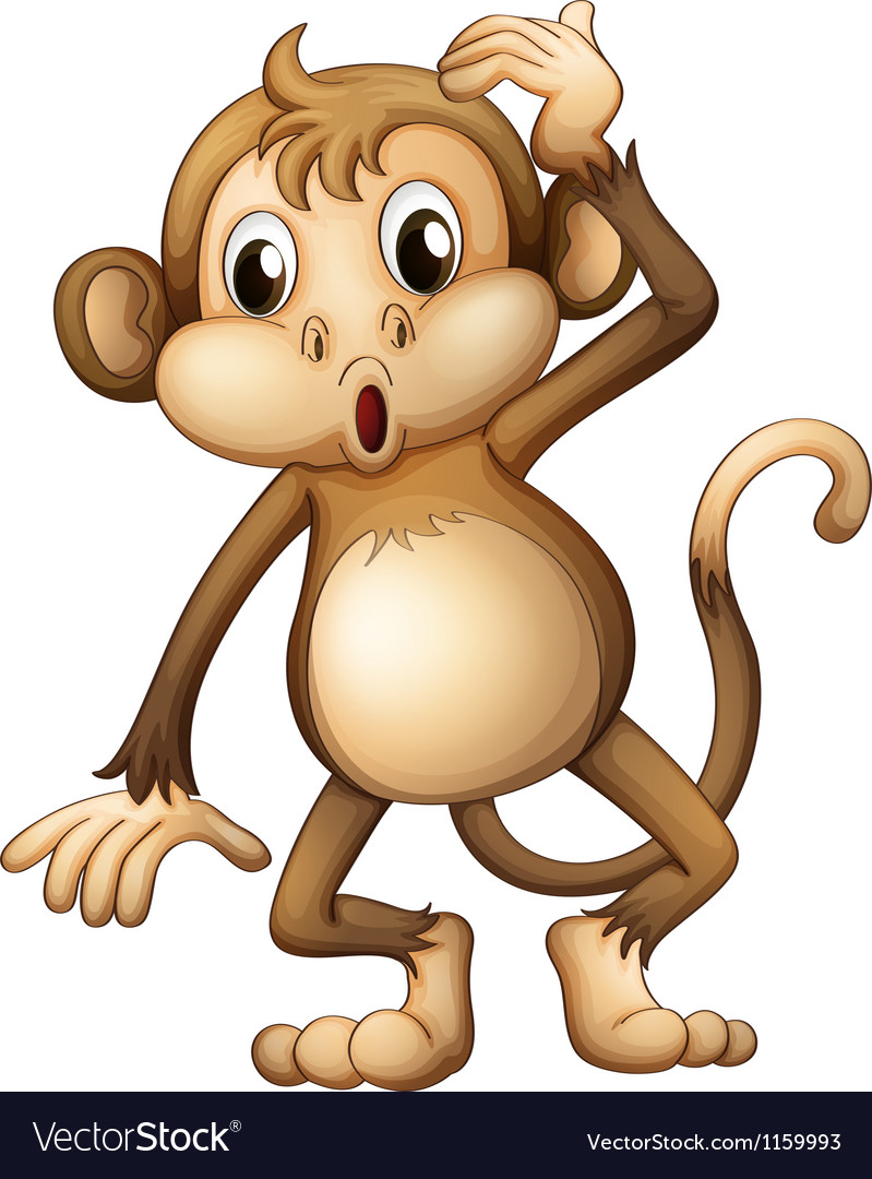 A tired monkey vector   Price: 1 Credit (USD $1)