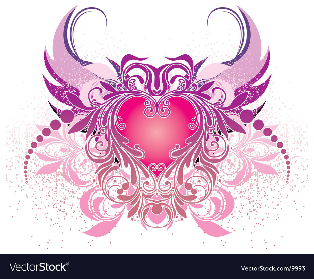 Angels and hearts vector | Price: 1 Credit (USD $1)