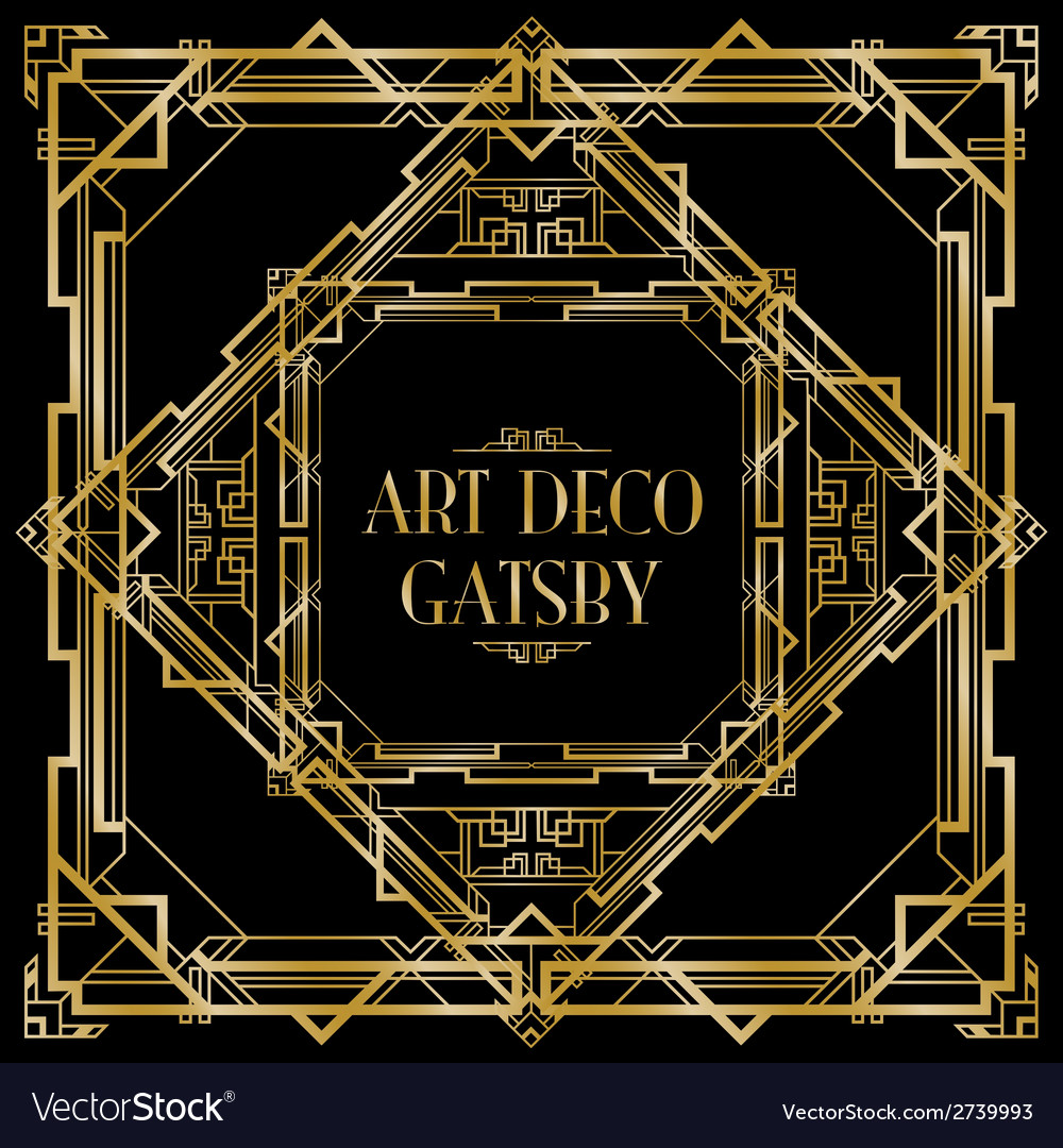 Art deco gatsby square vector | Price: 1 Credit (USD $1)