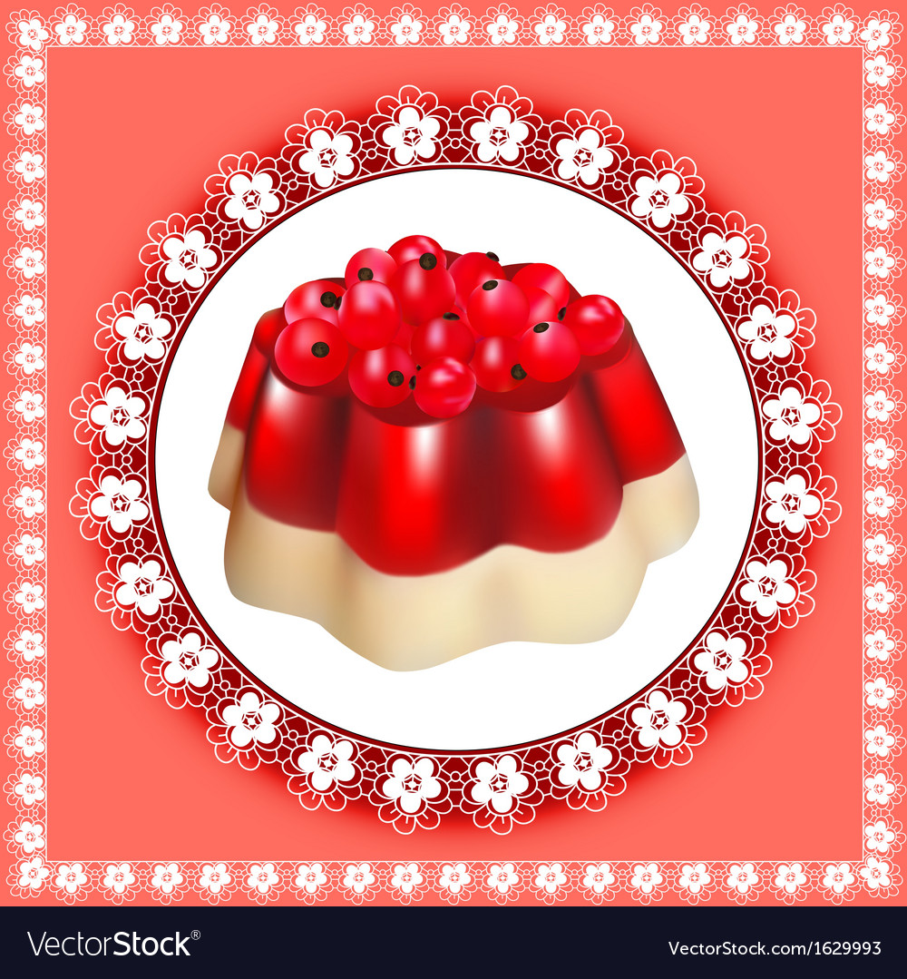 Background with fruit jelly dessert vector | Price: 1 Credit (USD $1)